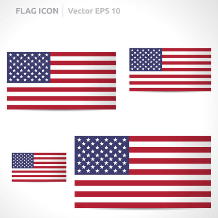 star spangled: United states flag template Illustration
