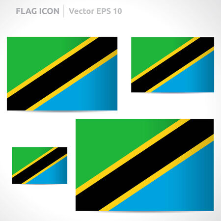 flag template: Tanzania flag template
