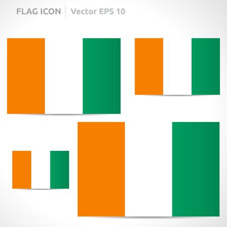 flag template: Ivory Coast flag template