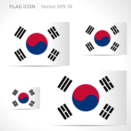 korea: South Korea flag template