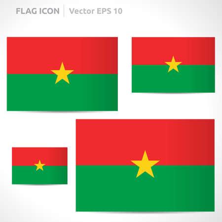 flag template: Burkina Faso flag template