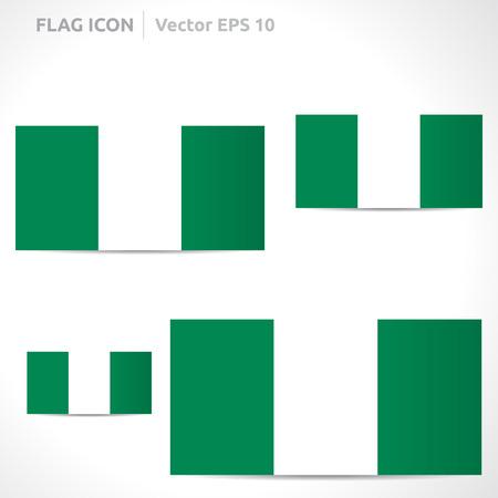 flag template: Nigeria flag template  Illustration