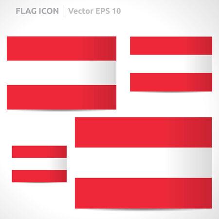 flag template: Austria flag template