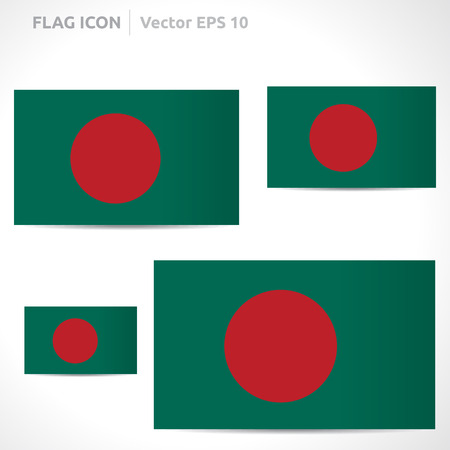 bangladesh: Bangladesh flag template  Illustration
