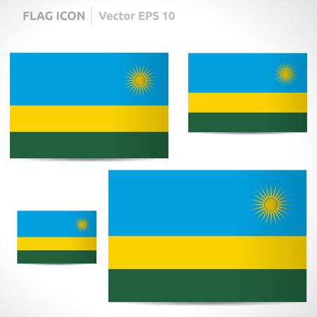 flag template: Rwanda flag template  Illustration