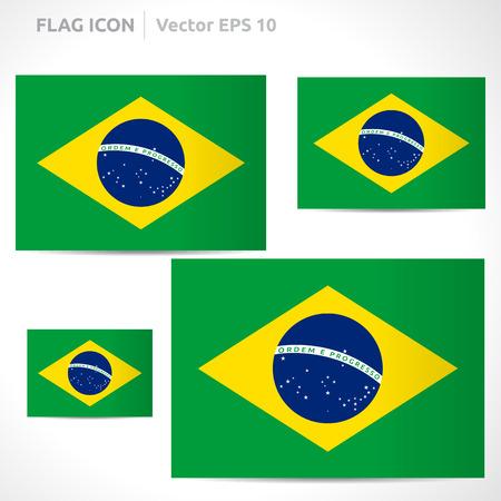 flag template: Brazil flag template