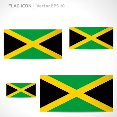 flag template: Jamaica flag template