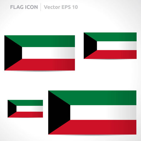 flag template: Kuwait flag template