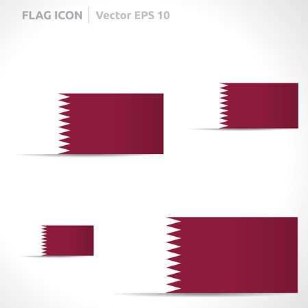 flag template: Qatar flag template  Illustration