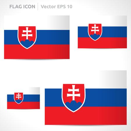 flag template: Slovakia flag template Illustration