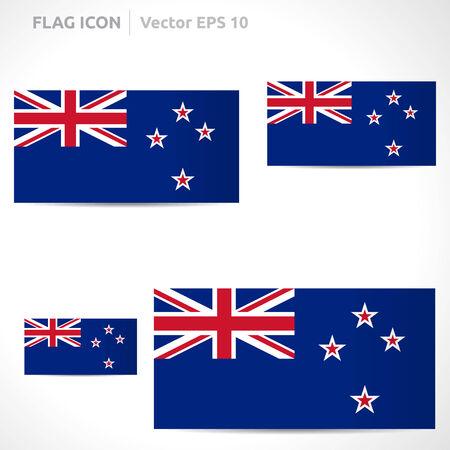 new zealand flag: Nuova Zelanda template bandiera Vettoriali