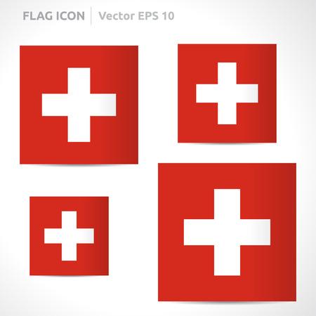 flag template: Switzerland flag template