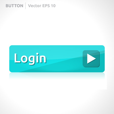 login button: Login button template Illustration