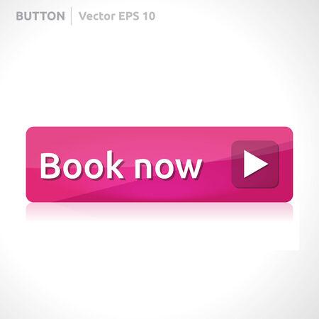 Buchen Sie jetzt Button Vorlage Illustration