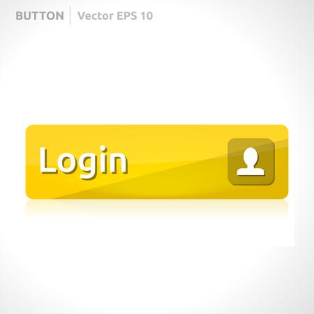 log off: Login button template Illustration