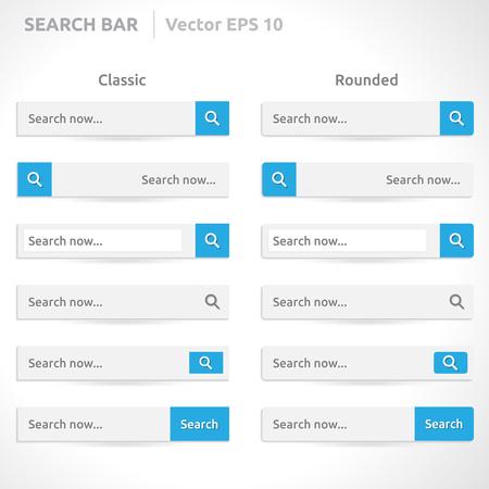search bar: Search bar template  Illustration