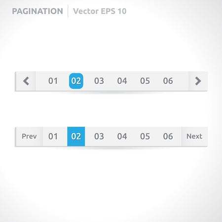 Pagination bars | color blue and white  向量圖像
