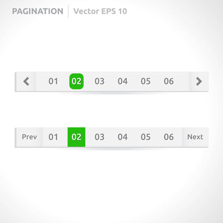 pagination: Pagination bars | color blue and white  Illustration
