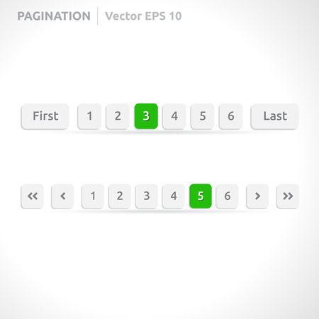 Pagination bars | color green and white