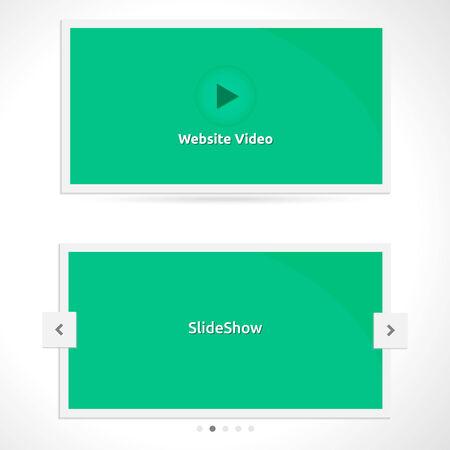 Website Slideshow template  Vector