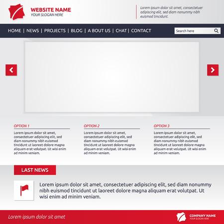 diaporama: mod�le de site Web avec diaporama, les options et le menu horizontal