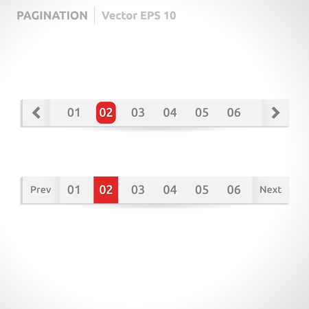 pagination: Pagination bars | color red and white