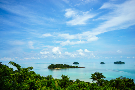 The islands in the East Sea of Thailand and the beautiful sky