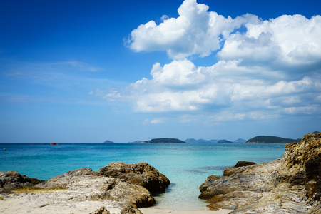 The islands in the East Sea of Thailand and the beautiful sky.