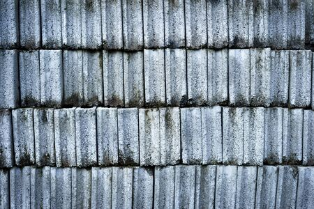 durty: Stack of concrete bricks with old and durty surface