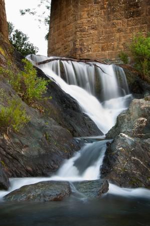 rock creek: Rock Creek drops into the Sacramento River here under the Redding River Trail just below Keswick Dam.