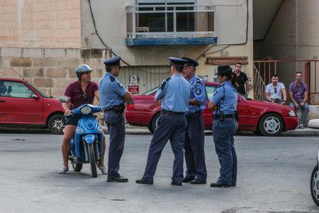 Police gathering.