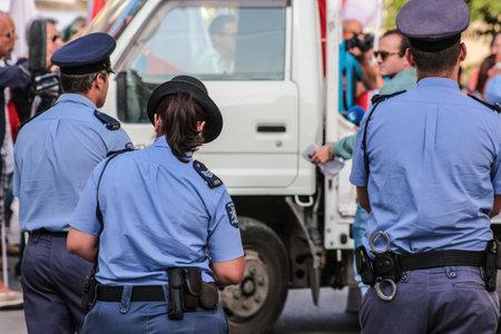 Police, the thin blue line. Редакционное