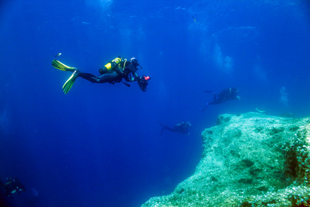 Underwater Photographer, Reef and Divers.