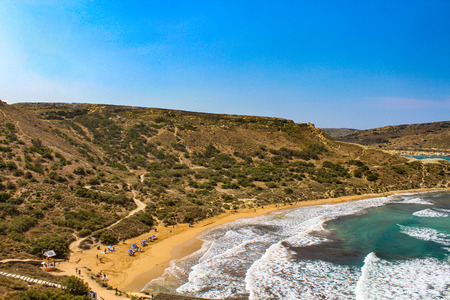 Sun, Sand and Mediterranean waves Фото со стока