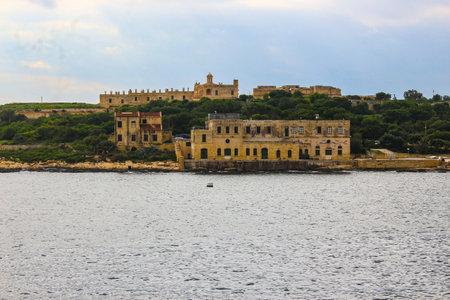 Fort Manoel and old naval buildings Редакционное