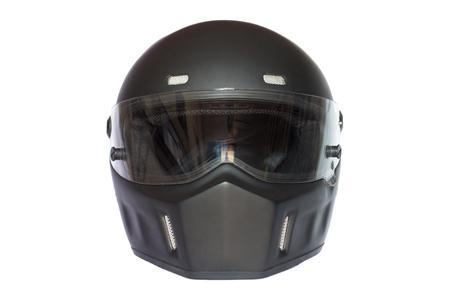 matte: vintage matte black full face helmet isolated