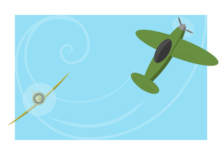 wartime: Dogfight two old aircraft, chase and turns