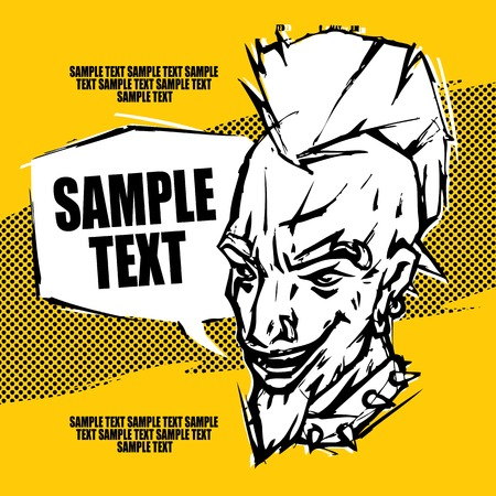 nose ring: Punk rock poster flyer ticket