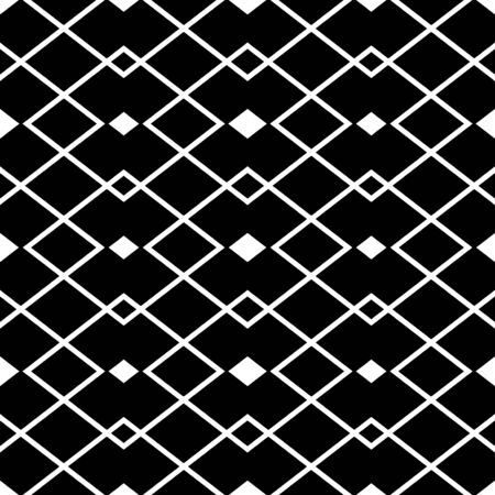 art deco design: Abstract seamless black and white pattern