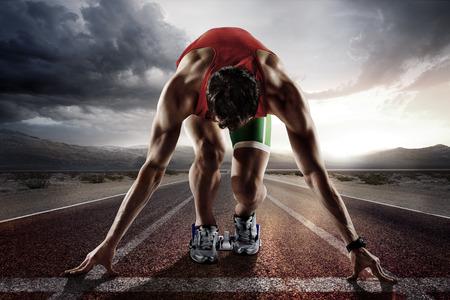 スポーツの背景。ランナー。