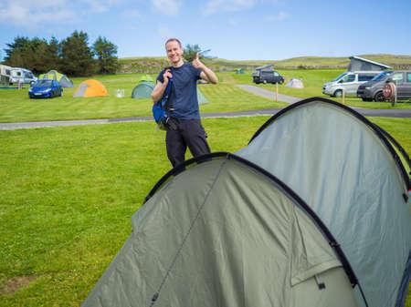 포틀랜드 캠프장에서 캠핑 텐트