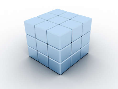 3d metallic cube photo