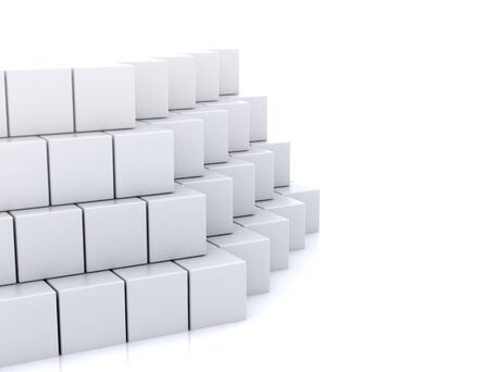 constructing: Abstract 3d cubes construction Stock Photo