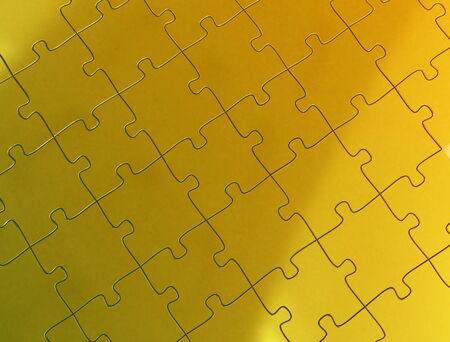 Golden puzzle piece photo