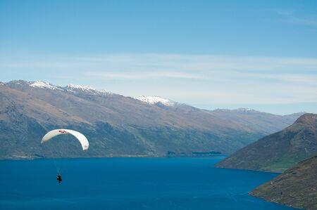 parapente: Nueva Zelanda Queenstown deporte de parapente
