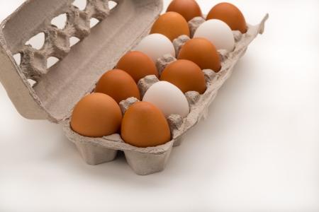 Carton of Mixed Eggs