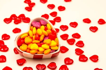 Colored Heart Candies for Valentines Day
