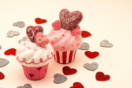 Fun Decorated Cupcakes for Valentines Day