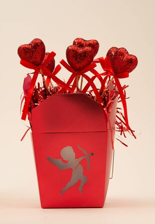 Cupid Box with Heart Decorations for Valentines Day