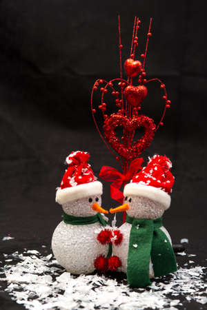 Toy Snowman and Hearts for Valentines Aday